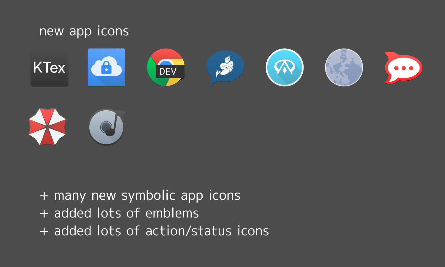 new icons